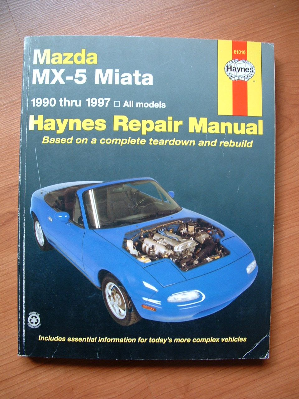 Models covered by this manual: All Mazda MX-5 Miata models 1990 thru 1997
